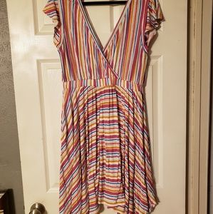 Vacationer Knit Dress in Vibrant Stripes - XL